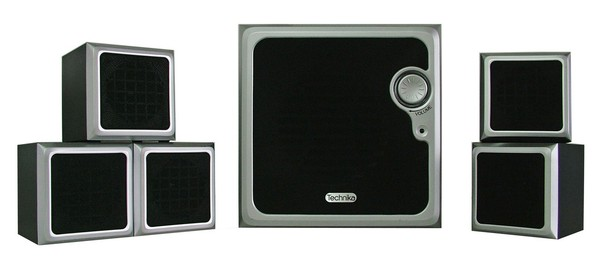 joblot esonic 5 1ch home cinema kit technika speakers ebay. Black Bedroom Furniture Sets. Home Design Ideas