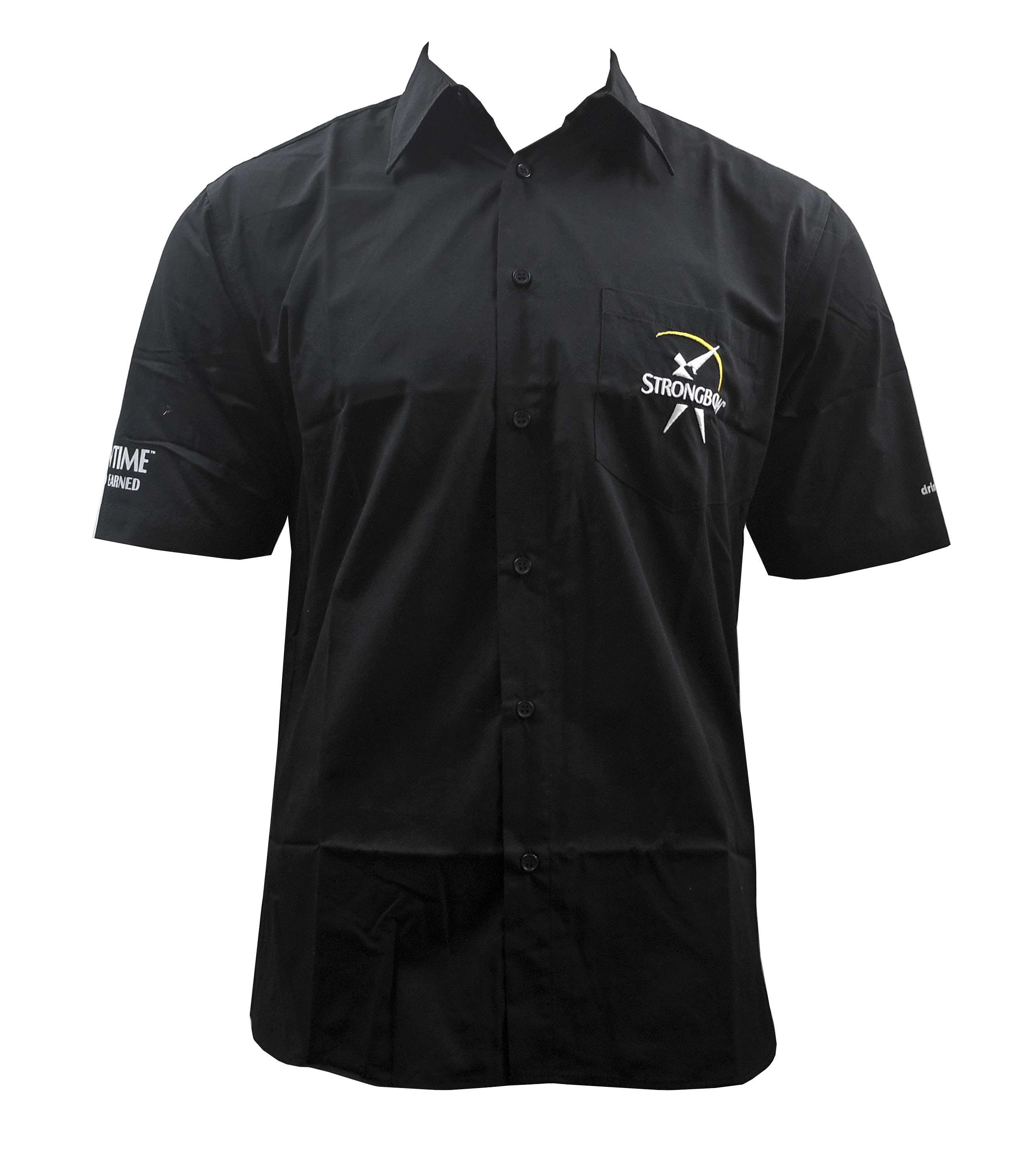 Wholeslae joblot 10 mens strongbow black short sleeved for Short sleeve mens dress shirts clearance