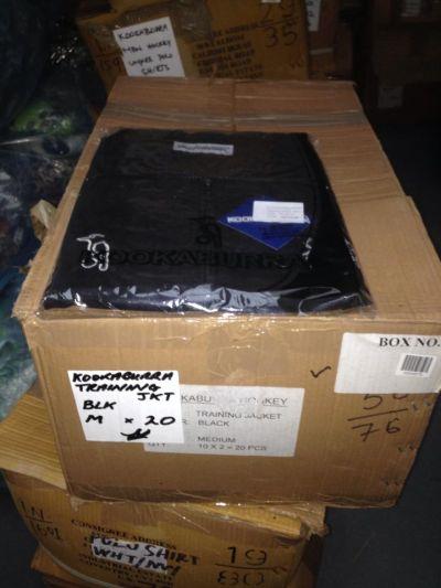 kookaburra training jacket black medium x 20