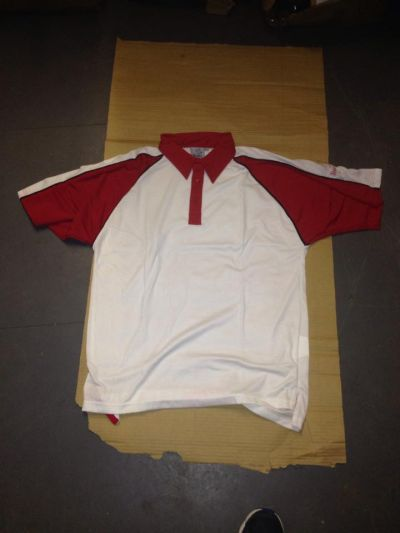 readers cricket polo shirt red  boys large x  32