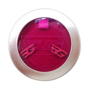Joblot of 100 Pairs of Golddigga Ear Studs 'G' Logo Hot Pink Cerise In Box