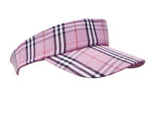 Joblot of 20 Visors Checkered Pattern Pink Ladies Fashion Adjustable Cap