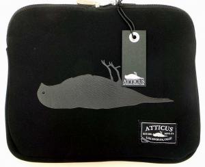 Joblot of 10 Atticus Laptop/Tablet Cases Harvey Black 'Dead Bird' Logo Zip-Up