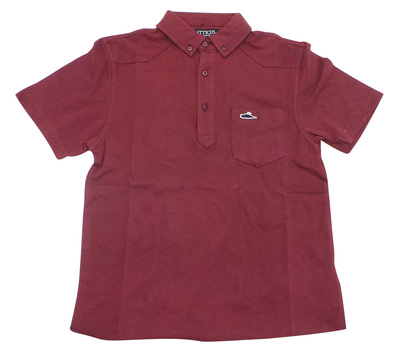 Joblot of 10 Atticus Polo Shirts 'Sant Polo' Mens Burgundy XS