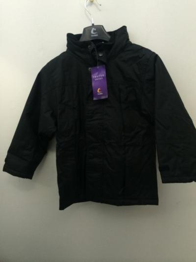 Navy and black finland fleece lined coat