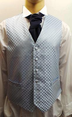Wholesale Joblot of 5 Mens Blue Chequered Waistcoats Ex Wedding Hire 19