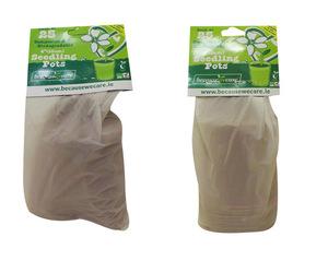 Wholesale Joblot of 50 Packs of 25 Biodegradable Seedling Pots 3