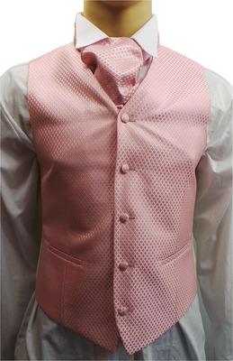 Wholesale Joblot of 5 Mens Wilvorst Pink Lattice Waistcoats Ex Wedding Hire 32