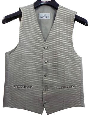 Wholesale Joblot of 7 Mens Wilvorst Silver Lattice Waistcoats Ex Hire 30