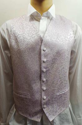 Wholesale Joblot of 10 Mens Lilac Swirl Waistcoats Ex Wedding Hire 10