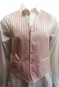 One Off Joblot of 15 Mens Wilvorst Pink and Silver Stripe Waistcoats 15