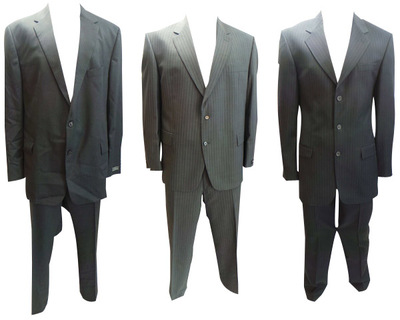 One Off Joblot of 9 Mens Odermarks & Varteks Pin Stripe Suits 4 Styles