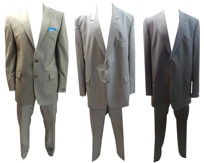 One Off Joblot of 8 Mens Assorted Premium Suits Top Branded Names Plus Size