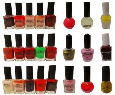 Wholesale Joblot of 48 Assorted Nail Polishes Good Variety of Shades & Brands