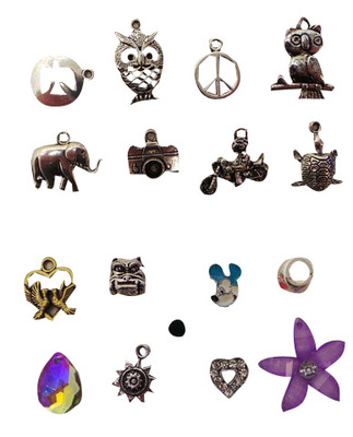 Wholesale Joblot of 100 Jewellery Making Necklace Pendants & Bracelet Beads