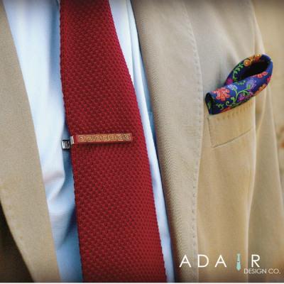 Acrylic Greek Key Pattern Tie Clip