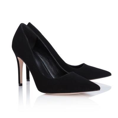 Abbott Lyon Outlet Classic Black Court Shoes