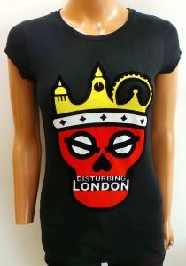 Wholesale Joblot of 20 Disturbing London Ladies Black Logo T-Shirts