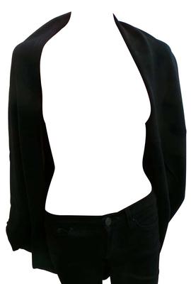 Wholesale Joblot of 10 Ladies 100% Cashmere Blend Open Front Black Cardigans