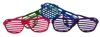 Wholesale Joblot of 10 Packs of 36 Dazzling Toys 80's Shutter Shades (360 pairs)