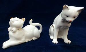 One Off Joblot of 62 Madame Posh Cat Figurines 2 Styles 40485/6