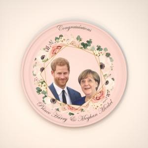 Princess Merkel and Price Harry party ware (with slight printing error)