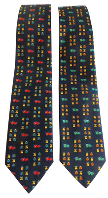 Wholesale Joblot of 20 Mens Insect & Flower Navy Ties 2 Colours