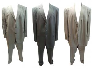 Joblot of 20 Assorted Mens Suits Varteks, Wilvorst, Hugo James Etc Plus Size