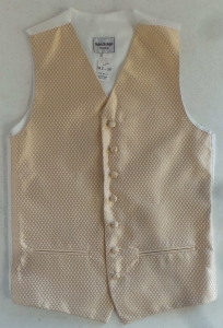 Wholesale Joblot of 10 Mens Gold Diamond Check Waistcoats With Accessories