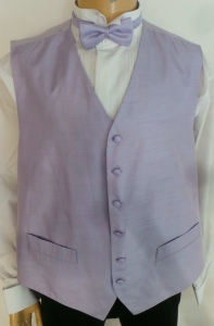 Wholesale Joblot of 10 Mens Lilac Fine Stripe Waistcoats With Accessories