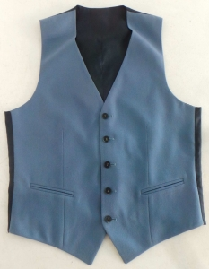 Wholesale Joblot of 10 Mens Blue Formal Waistcoats Huge Range of Sizes