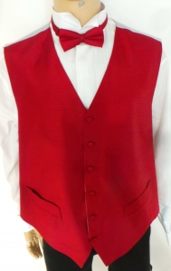Wholesale Joblot of 10 Mens Red Fine Stripe Waistcoats With Accessories