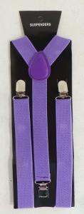 One Off Joblot of 59 Unisex Elasticated Fabric Suspenders Purple, Blue & Red