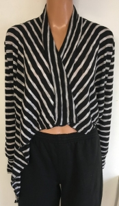 Wholesale Joblot of 10 Avon Womens Mono Stripe Waterfall Cardigans 2 Sizes
