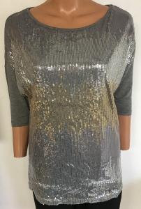 Wholesale Joblot of 10 Avon Womens Zig Zag Sequin T-Shirt Size 10/12