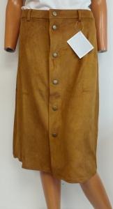 Wholesale Joblot of 10 Avon Suede Look Button Skirts Tan Sizes 6-12 18/20
