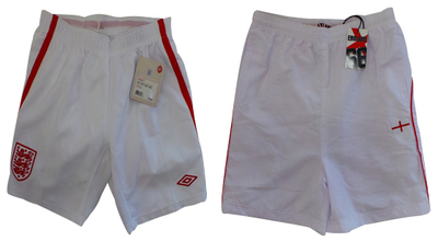 One Off Joblot of 7 Official Umbro Boys England Shorts & 5 England Shorts