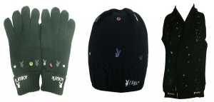 Wholesale Joblot of 20 Mixed Playboy Winter Accessories Hats Gloves & Scarves