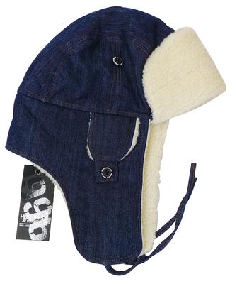 One Off Joblot of 10 Henleys Mens Navy Denim Look Trapper Winter Hats