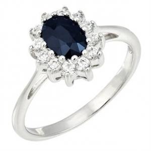 Wholesale Joblot of 5 Avon Tia Sapphire Womens Ring Silver Size 8