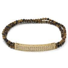 One Off Joblot Of 8 Shimla Gold Bar And Tigers Eye Bracelets SH196