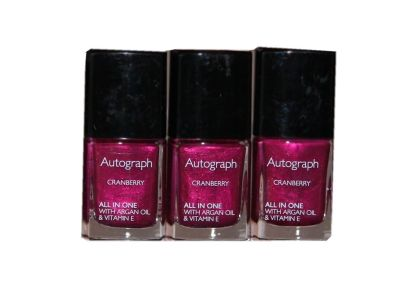 48 x Autograph by M&S All in One Nail Colour with Argan Oil 11ml | Cranberry