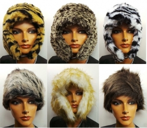 One Off Joblot of  207 Assorted Ladies Trapper/Cossack Styled Faux Fur Hats