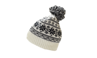 8 X Snow flake White/Black Hat