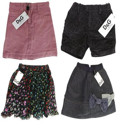 One Off Joblot of 5 Dolce & Gabbana Girls Skirts/Shorts 5 Styles