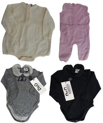 One Off Joblot of 4 Dolce & Gabbana Babygrows 4 Styles 3-6 Months