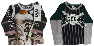 One Off Joblot of 3 Dolce & Gabbana Boys Baseball T-Shirts 3 Styles