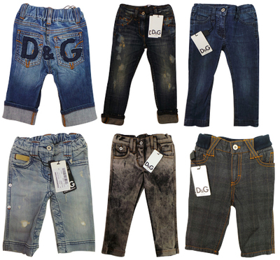 Wholesale Joblot of 5 Dolce & Gabbana Childrens Trousers Mixed Styles & Sizes