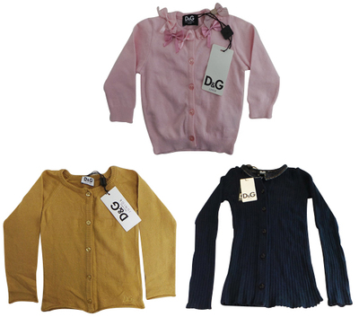 One Off Joblot of 5 Dolce & Gabbana Girls Cardigans 3months - 3years
