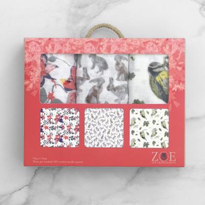 25 x Woodland Muslin Three Pack Gift Sets